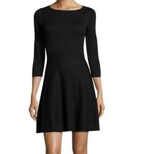 NWT French Connection Black Flared Knit Dress